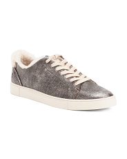 Shearling Leather Fashion Sneakers