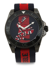 Swiss Made Snake Dial Nylon Strap Dive Watch