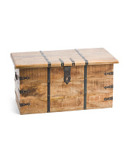 Natural Mango Wood Storage Trunk