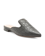 Made In Brazil Leather Croc Mules