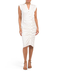 Stella Ruched Button Down Dress