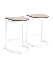 Set Of 2 Demi Barstools