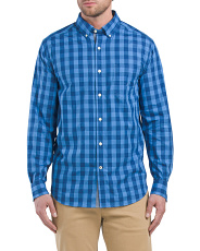 Plaid Stretch Oxford Shirt