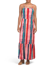 Juniors Printed Maxi Dress