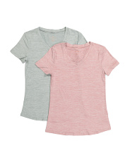 2pk Heathered V-neck Tees
