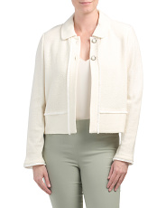Gracefully Refined Knit Jacket