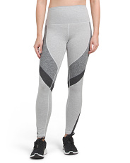 Made In Usa Heather Mix Color Block Leggings