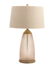 Textured Glass Table Lamp