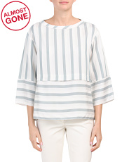 Made In Italy Striped Blouse
