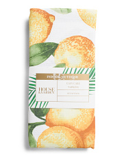 Set Of 4 Indoor Outdoor Lemonade In The Shade Napkins