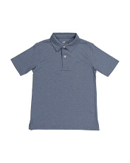 Big Boys Heathered Performance Polo