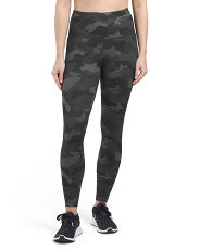 Lux High Waist Camo Ankle Leggings
