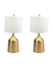 Set Of 2 25in Metal Lamps