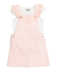 Toddler Girl 2pc Eyelet Jumper Set