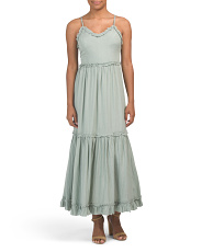 Juniors Tiered Ruffle Maxi Dress
