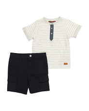 Toddler Boys 2pc Cargo Short Set