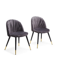 Set Of 2 Velvet Chairs