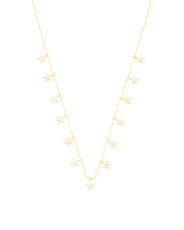 Gold Plated Sterling Silver Stars Necklace