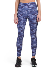 High Waist Camo Printed Ankle Leggings