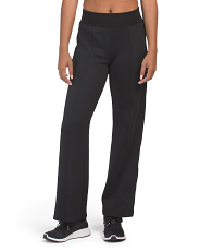 Snap Bottom Wide Leg Pants