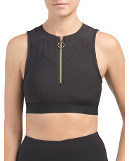 Zip Front High Neck Bra