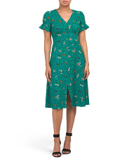 Juniors Ditsy Floral Midi Dress