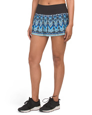Pleated Printed Tennis Skirt