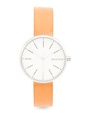 Women's Signature Leather Strap Watch