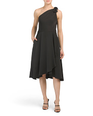 One Shoulder Dress With Pockets