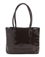 Casual Patent Leather Tote