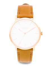Men's Porter 40mm Leather Strap Watch