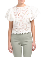 Romantic Cropped Lace Top