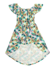 Big Girls Tropical Walk Thru Romper