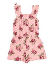 Little Girls Ruffle Sleeve Romper