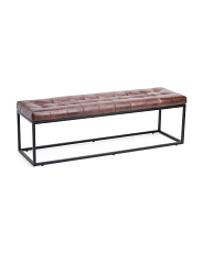 Genuine Leather Ottoman Bench
