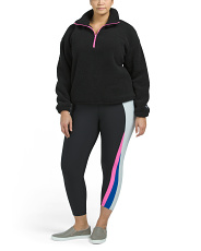 Plus Active Fleece Jogger And High Waist Leggings