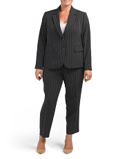 Plus Striped Suit Collection