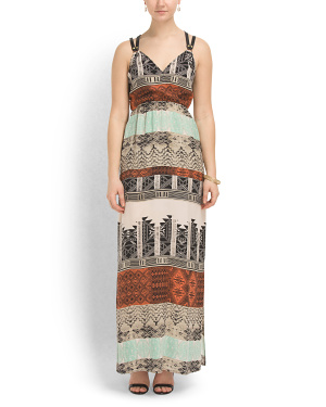 image of Silk Pueblo Blanket Maxi Dress