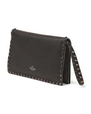 image of Leather Rockstud Clutch