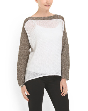 image of Linen Blocked Sweater