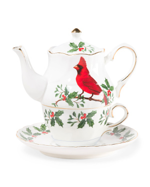 Tea For One Cardinal Teapot