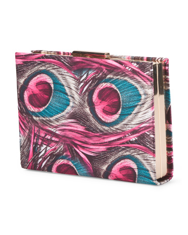 Printed Large Box Clutch