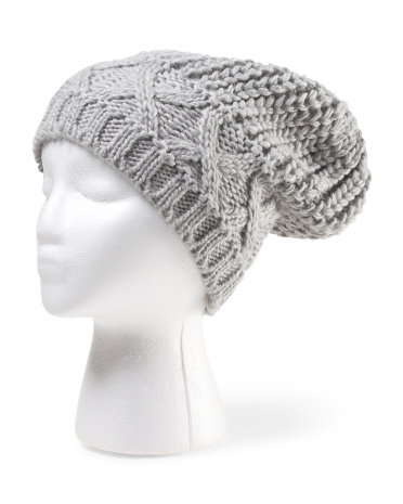 Made In Italy Diamond Knit Hat