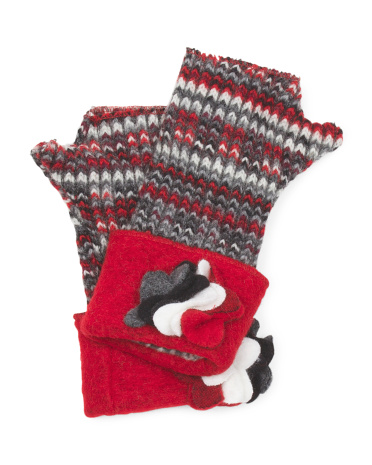 Made In Italy Fingerless Gloves