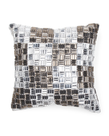 Made In India Jeweled Pillow