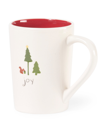 Set Of 4 Winter Forest Joy Mugs