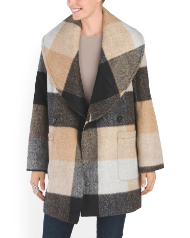 Maxine Plaid Coat