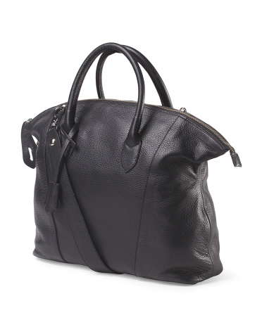 Made In Italy Leather East West Tote