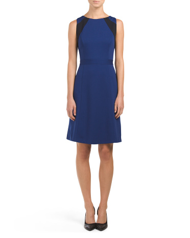 Teagan Sleeveless Ponte Dress