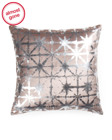 Velvet Metallic Printed Pillow